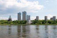 Stadt von Samara mit der Wolga Lizenzfreies Stockfoto