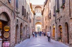 Stadt von San Gimignano, Italien Stockbild