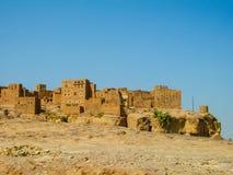 Stadt von Sana 'a, Straßen und Gebäude der Stadt im Jemen lizenzfreies stockfoto