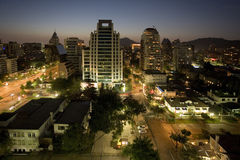 Stadt von Santiago lizenzfreies stockbild