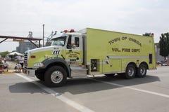 Stadt von Seitenansicht Oneida Volunteer Fire Department Trucks Stockfotografie