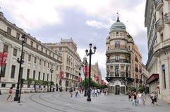 Stadt von Sevilla in Spanien Stockfotografie