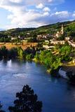 Stadt von Sisteron in Provence Frankreich Lizenzfreie Stockfotos