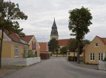 Stadt von Skagen in Dänemark Lizenzfreie Stockfotografie