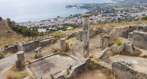 Stadt von Solunto, Palermo, Italien Stockbild
