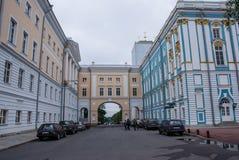 Stadt von St. Pererburge Die Paläste und die Architektur der Stadt Stockfotos