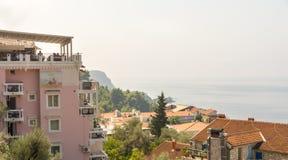 Stadt von St Stephen in Montenegro Stockbilder