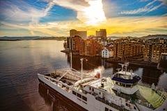 Stadt von Stavanger Stockfotos