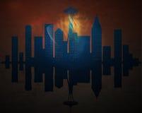 Stadt von Toronto, abstraktes backgroun stock abbildung