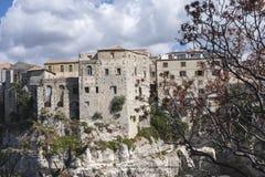 Stadt von Tropea im Sough von Italien Lizenzfreie Stockbilder