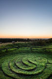 Stadt von Troy Maze - Sonnenaufgang - North Yorkshire - Großbritannien Lizenzfreies Stockfoto