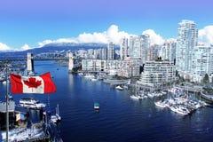 Stadt von Vancouver lizenzfreie stockfotos