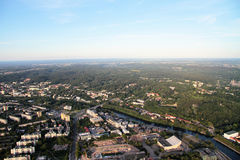 Stadt von Vilnius Litauen, Vogelperspektive stockbild