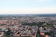 Stadt von Vilnius Litauen, Vogelperspektive lizenzfreie stockfotografie