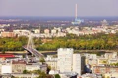 Stadt von Warschau stockfotos