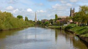 Stadt von Worcester in England lizenzfreies stockfoto