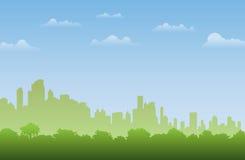 Stadt-Wald vektor abbildung