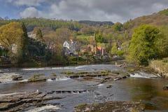 Stadt in Wales-Llangollen lizenzfreies stockbild