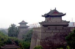Stadt-Wand China-Xian (Xi'an) lizenzfreies stockfoto