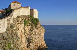 Stadt-Wand in Dubrovnik Stockfoto