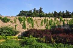 Stadt-Wand von Nanjing, China Lizenzfreies Stockfoto