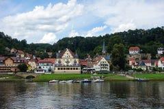 Stadt Wehlen DEUTSCHLAND - 4. AUGUST 2016 Stockfotos