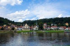 Stadt Wehlen DEUTSCHLAND - 4. AUGUST 2016 Lizenzfreie Stockfotos