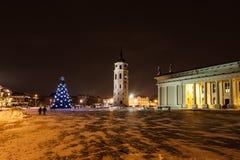 Stadt-Weihnachtsbaum Stockbild