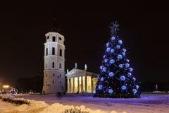 Stadt-Weihnachtsbaum Lizenzfreies Stockfoto