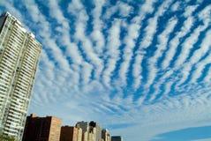 Stadt-Wolken Stockfotografie