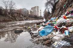 Stadtabwasserkanal Stockfotos