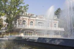 Stadtanblick fanfan der Tulpenbrunnen Stockbild