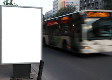 Stadtanschlagtafel lizenzfreie stockfotos