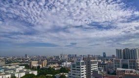 Stadtansicht in mein Büro von 16 Boden, Bangkok Thailand lizenzfreie stockfotografie