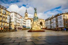 Stadtansicht Vitoria-Gasteiz, Spanien lizenzfreies stockbild