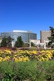 Stadtansicht vom Park Lizenzfreies Stockfoto