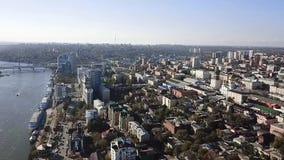 Stadtansicht von der Höhe stock video