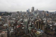Stadtansicht von der Spitze in Macao Lizenzfreies Stockfoto