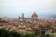 Stadtansicht von Florence Cathedral Lizenzfreies Stockfoto