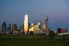 Stadtansicht von im Stadtzentrum gelegenem Dallas Texas Lizenzfreie Stockfotos