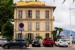 Stadtansicht von sch?nem Roquebrune-Kappe-Martin stockfoto