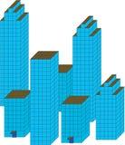 Stadtarchitektur. Stock Abbildung