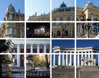 Stadtarchitektur - eine Collage. Odessa, Ukraine Stockbild