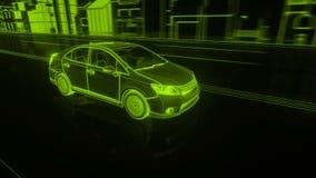 Stadtauto Wireframe-Ansicht - begrifflich lizenzfreie abbildung