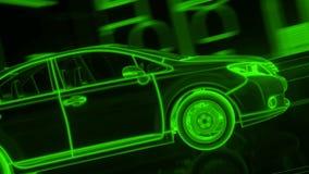 Stadtauto Wireframe-Ansicht - begrifflich vektor abbildung