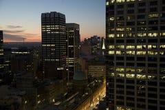Stadtbij Nacht Stockbild