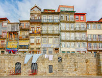 Stadtbild über dem Duero-Fluss, Porto, Portugal Lizenzfreie Stockfotos