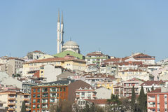 Stadtbild über Istanbul mit Moschee Lizenzfreies Stockfoto