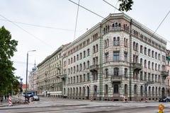 Stadtbild alter Riga-Stadt im September Stockbilder