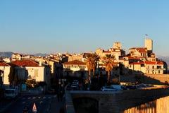 Stadtbild in Antibes, Frankreich stockfoto